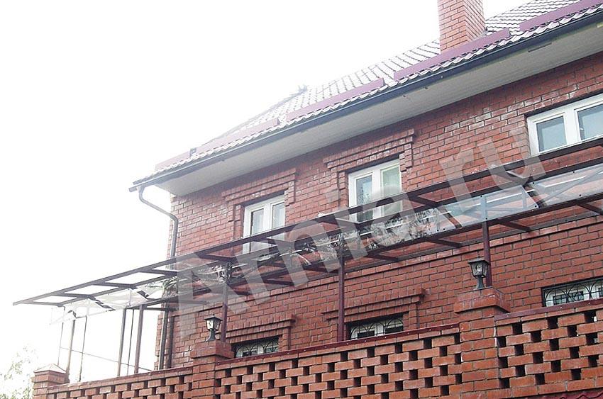 Фотогалерея навесов над балконами из поликарбоната - arnia.